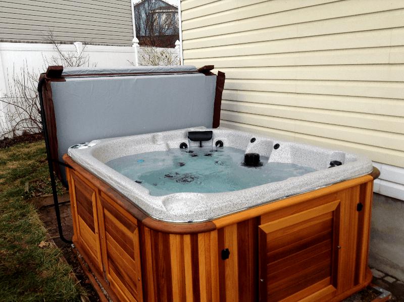 Arctic Spas Hot tub in the backyard